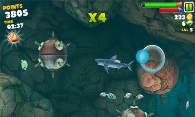 hungry shark hile apk android oyun club indir