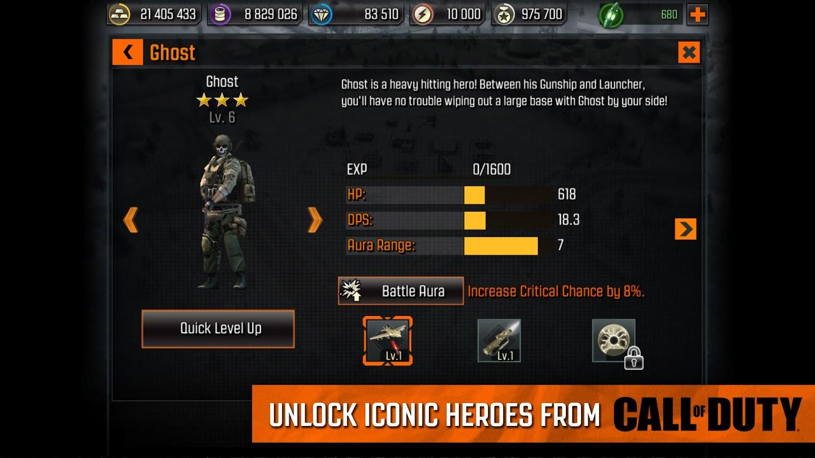 call of duty heroes mod apk 4.5.0