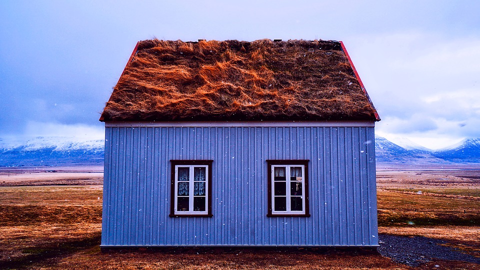 House with a rotting roof