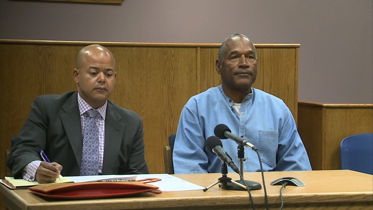 OJ Simpson with lawyer at 2017 parole hearing19340602-159532