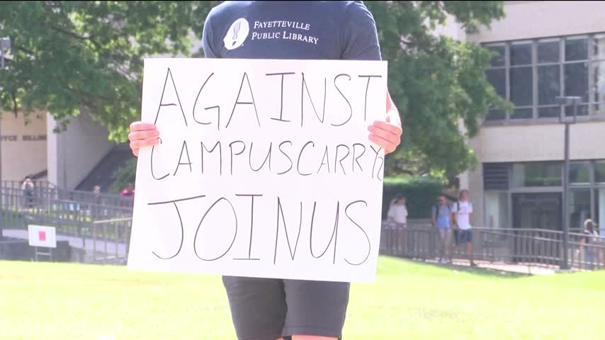 Students Protest- Support New Campus Carry Law at University_98312237
