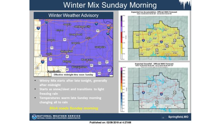 Multiple Winter Weather Advisories Issued for Missouri