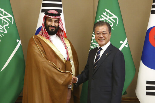 Mohammed bin Salman, Moon Jae-in