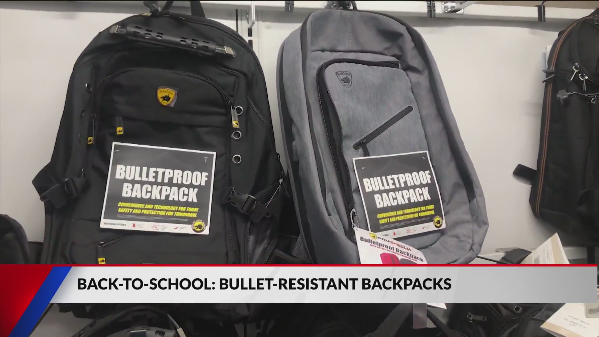 Sales of bulletproof backpacks surged 200% to 300% in the