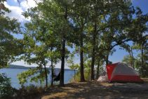 Coleman Sunlight Ridge Tent, camping at Hawker Point, Stockton Lake, Missouri