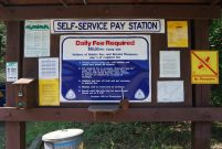 Campground Self Service Station at Big Bay public use area