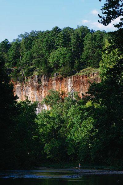 Red Bluff on Huzzah Creek, Davisville, Missouri