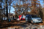 Camping in the Fall at Berry Bend Campground Harry S Truman Lake, Misouri