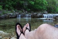 Relaxing by the creek, Long Creek, Hercules Glades Wilderness