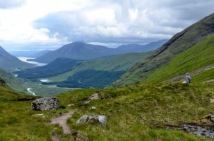 Gary Allman contemplating the view of Loch Etive