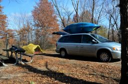 Camping at Bucksaw Campground, Harry S Truman Lake, Missouri