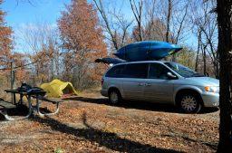 Camping at Bucksaw Campground, Harry S Truman Lake, Missouri