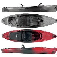 The 2012 Ascend FS10 and Ascend D10 Kayaks compared