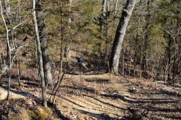 Descending the White Trail - Busiek State Forest and Wildlife Area. This part of the trail was closed in 2012 - there's now a much easier descent via switchbacks.