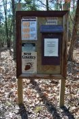Trail notice board - Hercules Glades Wilderness