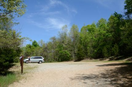 South Trailhead Parking Lot at Busiek State Forest and Wildlife Area