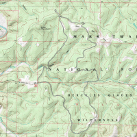 Trail Map: Hercules Glades Wilderness