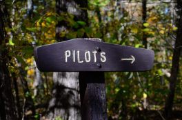 This sign for the pilots is right by the registration point at the Tower Trailhead.