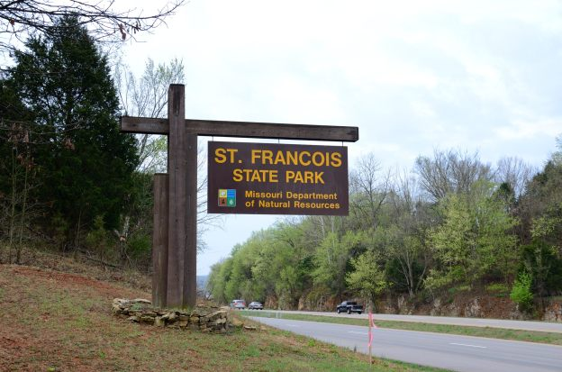 St Francois State Park Sign