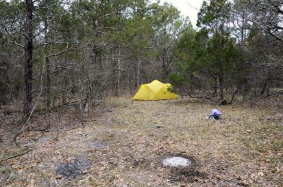 Campsite North of Lower Pilot Knob - Hercules Glades - April 201