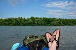 Relaxing in a kayak on Lake Springfield. www.ozarkswalkabout.com