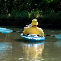 Kayaking on the James River above Lake Springfield