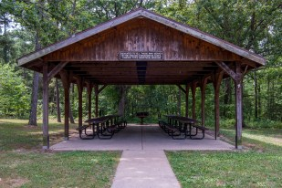 Photograph of the Pavilion at Berryman Trail & Campground
