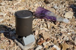 Esbit Stove and Titanium Pot