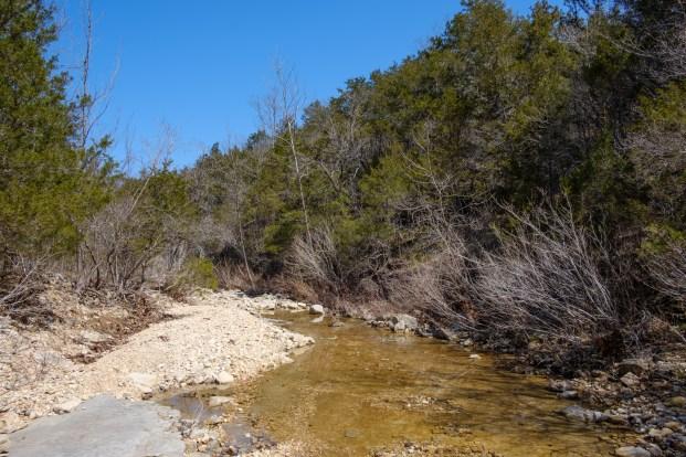 Looking East down Brushy Creek.