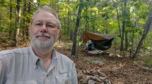 Gary, with beanie hair and the hammock