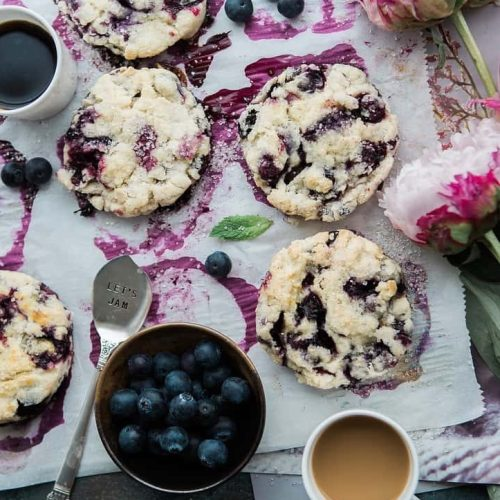 Oatmeal and blueberry cookies
