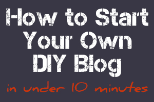 how to start a blog in under 10 minutes