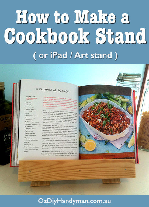 how to make a cookbook stand