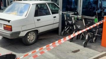 özel güvenlik ile tartışan şahıs otomobili ile hastaneye girmeye kalktı