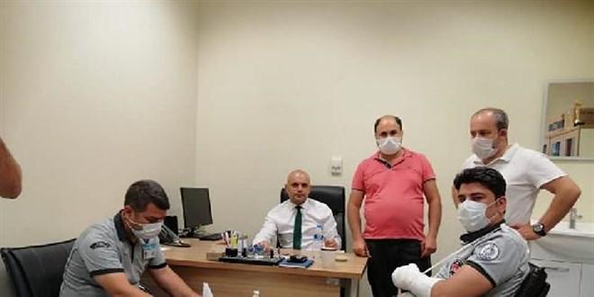 Hasta yakınları özel güvenlik görevlilerine saldırdı