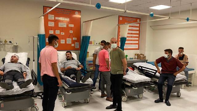 """Özel güvenlik görevlileri ile hasta yakınları arasında """"maske"""" kavgası: 9 yaralı"""