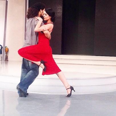 Mihriban Akgül ile İşte Benim Stilim dans konsepti provası