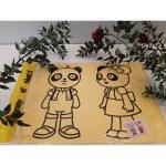 Büyük Boy Kum Boyama Aktivite Seti - Sevimli Öğrenci Pandalar