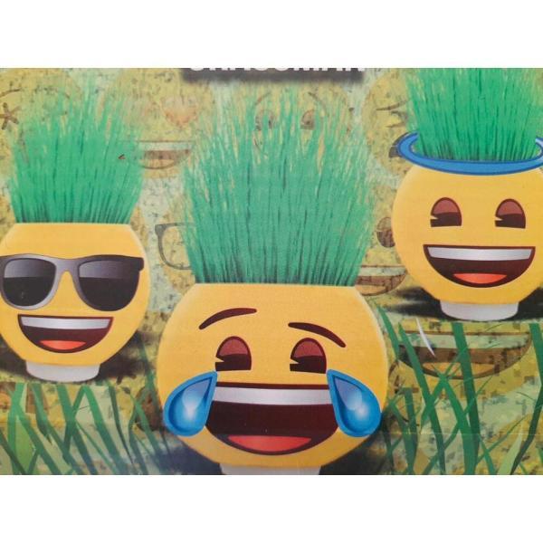 Emoji Karakterli Küçük Boy Çim Adam