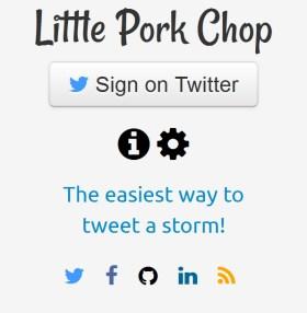 Twitter İçin Flood Aracı: Little Pork Chop