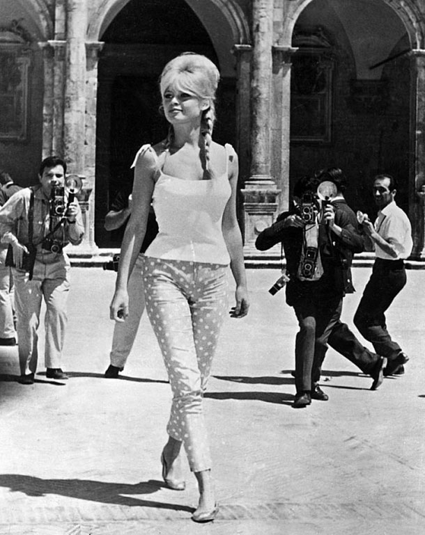 Brigitte Bardot in Capri pants.