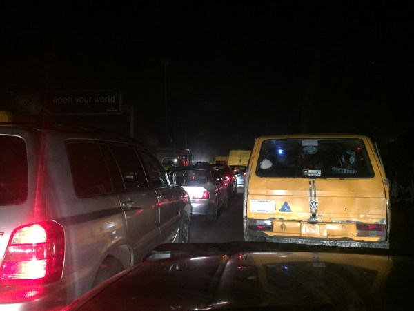 Night traffic in Lagos