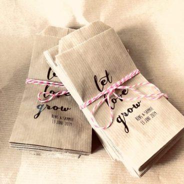 let love grow zakje