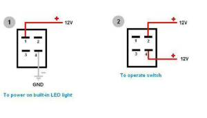 How to Wire 4 Pin LED Switch | 4 Pin Led Switch Wiring
