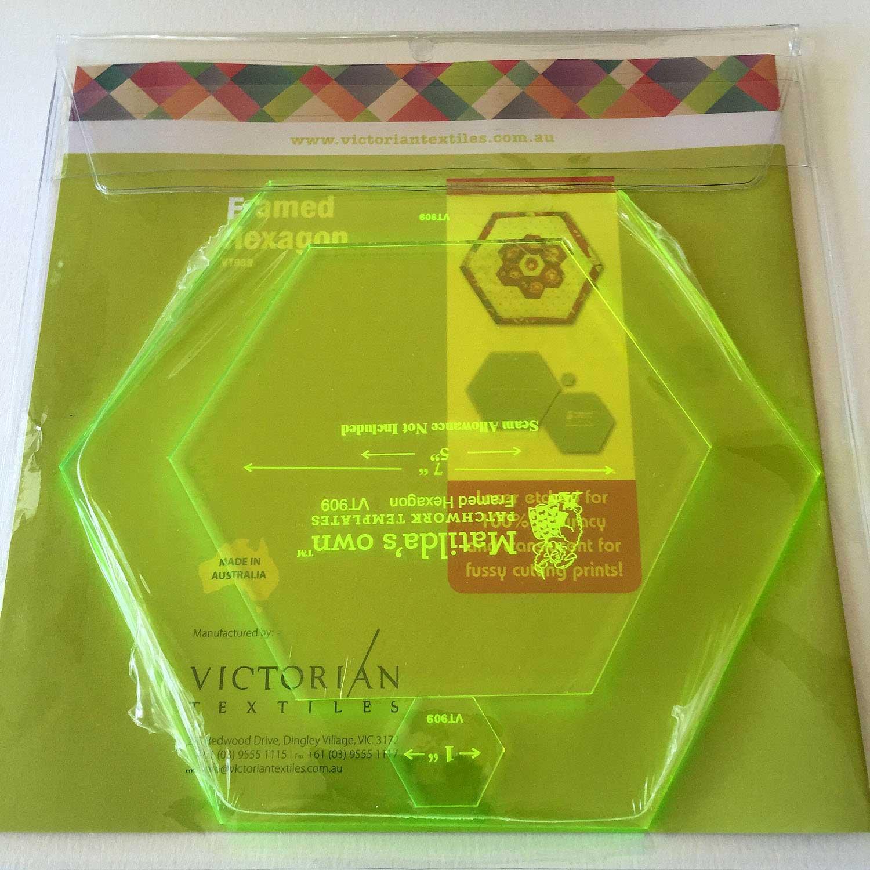 Matildas Own Framed Hexagons Quilt As You Go Patchwork Template Set By Matildas Own