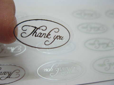 500x Silver Thank You Envelope Sticker Seals For Wedding Invitat