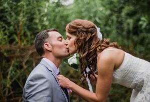 Wedding kiss Galway