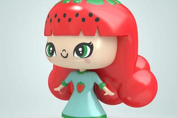 Strawberry-Style Illustration