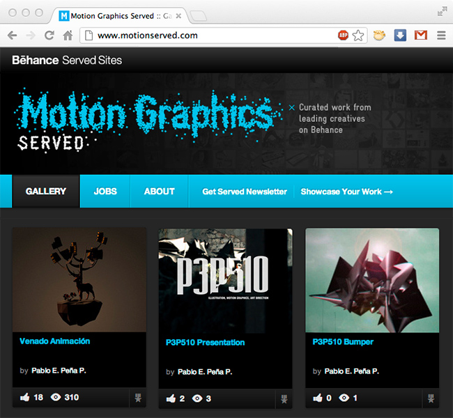 Behance Motion Graphics Served
