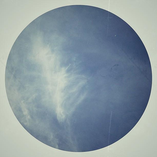 Cielo a través de un círculo.